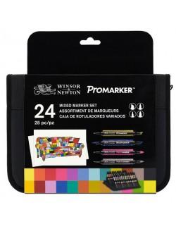 PROMARKER SET 24 PENNARELLI +ASTUCCIO WINSOR & NEWTON