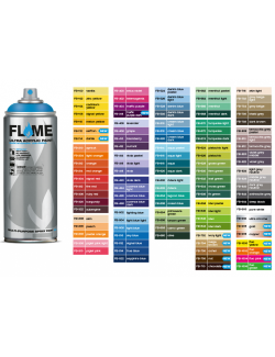 FLAME SPRAY ULTRA ACRYLIC PAINT SPRAY LOW PRESSURE 400 ml BY MOLOTOW